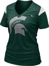 Michigan State Spartans Women's Green Nike Football Replica T-Shirt $34.99 http://www.fansedge.com/Michigan-State-Spartans-Womens-Nike-Football-Practice-T-Shirt-_747408110_PD.html?social=pinterest_pfid52-45209