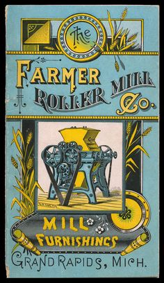 Farmer Roller Mill Booklet cover, 1886