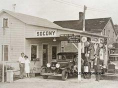 Socony gas station in Geneva, NY