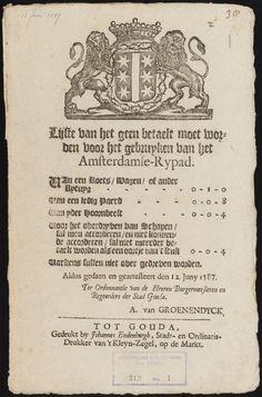 Verzameling van ordonnanties, waarschuwingen, resoluties enz., uitgevaardigd door de stadsregeering van Gouda, 1587-1754 - Geheugen van Nederland Gouda, Amsterdam, Nostalgia