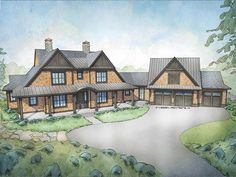 Low Country House Plan with 3829 Square Feet and 4 Bedrooms from Dream Home Source   House Plan Code DHSW078058
