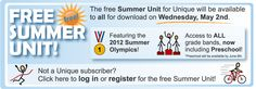 FREE Summer Unit on the Olympics! 200+ pages of differentiated instruction which includes the printables and lesson plans! Math, Reading, Writing, Social Studies, Science, Life Skills, and Crafts!!! Unique Learning Systems.