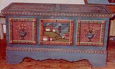 Bauernmalerei, Restaurierung von Bauernmöbel 3