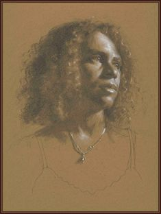 Jacob Collins (graphite and white chalk on paper)