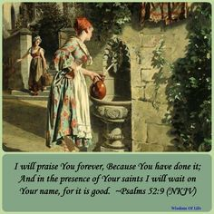 ~In the presence of your saints