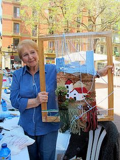Ideas that improve your life - weaving - Weaving Wall Hanging, Weaving Art, Tapestry Weaving, Loom Weaving, Hand Weaving, Easter Art, Easter Crafts, Yarn Crafts For Kids, Arts And Crafts