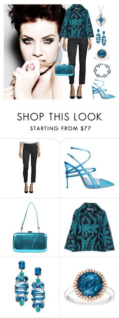 """Dinner with Friends"" by karen-galves on Polyvore featuring Lafayette 148 New York, Casadei, Antonella Romano, Shirtaporter and Monica Rich Kosann"