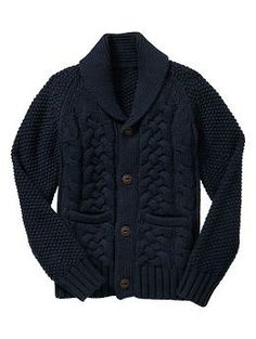 Shawl cable knit cardigan | Gap for Joey