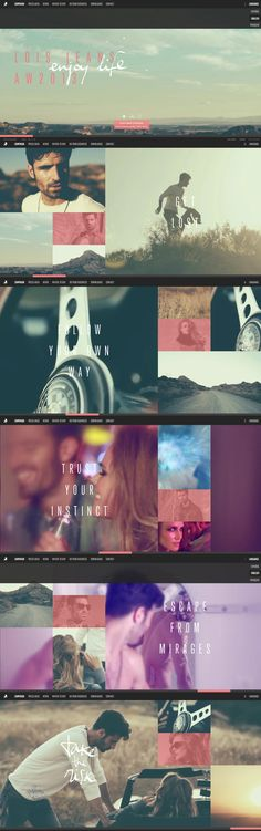 Lois Jeans Autumn-Winter 2013, 1 October 2013. http://www.awwwards.com/web-design-awards/lois-jeans-autumn-winter-2013   #Fashion #Clean #Minimal #HTML5 #Video #HorizontalLayout