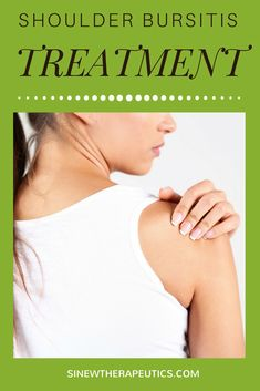 Shoulder Bursitis Treatment - If there is no swelling or inflammation, apply the Sinew Injury Poultice on the area to significantly stimulate circulation and blood flow to damaged tissues, relieve residual pain and stiffness, and further promote the healing of overstretched tendons and ligaments. Learn more at SinewTherapeutics.com