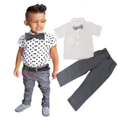 Boys long-sleeved shirt + pants suit  #girl #boy #mommy #greatdeals #openingsoon #toddler #clothes #cutie #fashion #kids