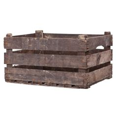 Wooden box by Granit Industrial Chic, Vintage Industrial, Apple Boxes, Swedish Brands, Blanket Chest, Wooden Boxes, Matcha, Firewood, Planting Flowers