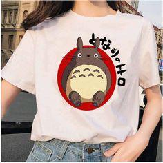 Cute Totoro Women Men Trending T Shirt Totoro T Shirt, Harajuku, Trend Fashion, White T, Personalized T Shirts, Custom T, Aliexpress, Direct To Garment Printer, Diy Clothes