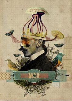 #Collage, #ilustration,