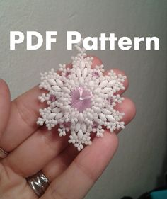 PDF-file Beading Pattern Snowflake Pendant by HoneyBeads1Official