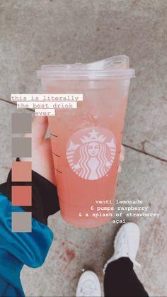 Bebidas Do Starbucks, Starbucks Hacks, Healthy Starbucks Drinks, Starbucks Secret Menu Drinks, Starbucks Coffee, Vegan Starbucks, Starbucks Refreshers, Coffee Drink Recipes, Coffee Drinks