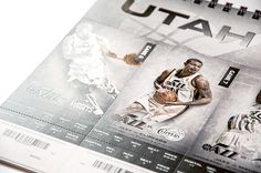 Utah Jazz 2013 Season Tickets by T.C. de Hoyos, via Behance