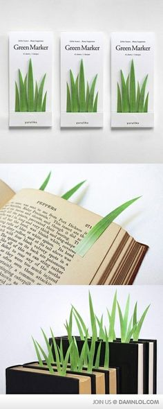 <3 Grass blades page saver.  I have to get some of these!!!