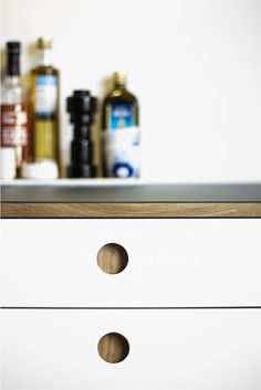 Reform kitchen - white Basis 01 drawer with solid oak edge www.reformcph.com