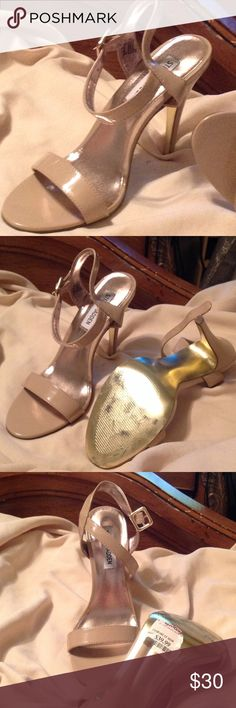 Nude Sandals Nude patent Steve Madden sandals size 7.5 USA  worn once Steve Madden Shoes Sandals