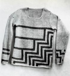 I like the color work in this Elsa Schiaparelli sweater from 1927