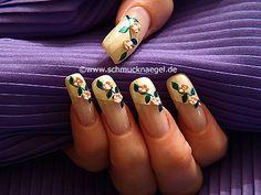 Decoración con flor ceramica - Nail Art Motivo 108 http://www.schmucknaegel.de/