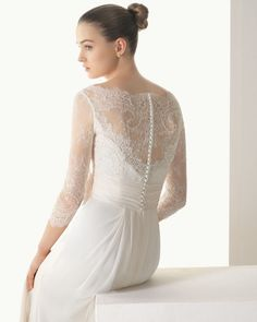 NWT NEW ~ Rosa Clara Soft ~ Irene ~ Couture Lace Chiffon Wedding Gown size 10