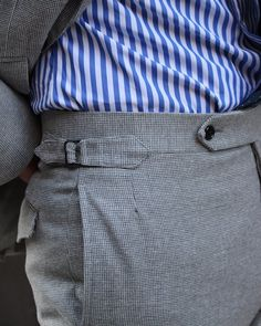 Miller's Oath cabana striped shirt and grey textured summer suit. Indian Men Fashion, Mens Fashion Suits, Fashion Pants, Types Of Trousers, Outfit Man, Elegant Man, Classy Men, Mens Style Guide, Pants Pattern