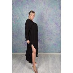 Cona Midi Dress Boho Midi Dress, Plain Black, Night Out, Bell Sleeves, High Neck Dress, Neckline, Color, Dresses, Fashion