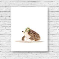 I love you mommy hedgehog, Woodland nursery, Animal Paintings, cat, rabbit, hedgehog, watercolor animal, woodland, kids poster