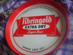 "For sale at Retrophoria.com, $14.99 - Antique ""Rheingold"" beer Tray. nice condition"