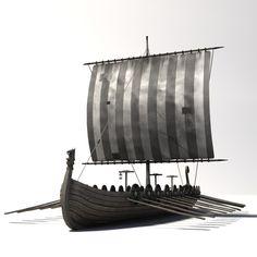 boat viking 3d model
