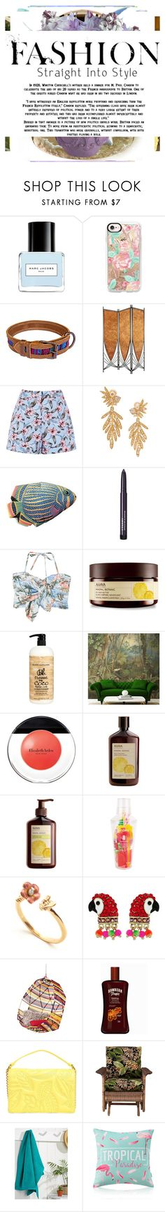 """""""Tropical"""" by knmaem ❤ liked on Polyvore featuring Marc Jacobs, TIKI, Casetify, Oscar de la Renta, Boston Warehouse, By Terry, MANGO, Ahava, Bumble and bumble and Elizabeth Arden"""