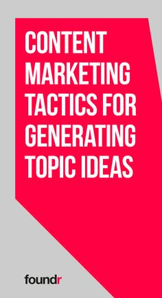 Learn the tried-and-true ways to conjure up subject matter ideas for your next pieces of content. Marketing Approach, Marketing Tactics, Content Marketing, Online Marketing, Digital Marketing, Media Marketing, Foundr Magazine, Business Entrepreneur, Business Coaching