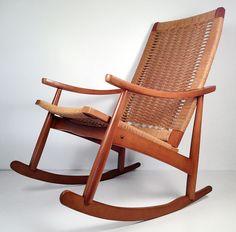 Mid-century modern rocking chair, made in Yugoslavia