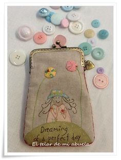 Dreaming of perfect day ♥ Anni Downs, Perfect Day, Frame Purse, Embroidery Works, Pouch, Wallet, Room Posters, Fabric Bags, Cute Bags