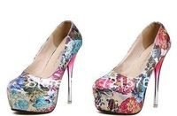 2014 free shipping fashion explosion models Cheap roses shallow mouth waterproof Taiwan high heels shoes wholesale