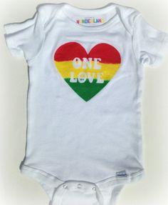 Bob Marley Custom Rasta Baby Onesie / by WelcometoWonderland, $19.00
