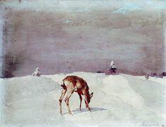 Stepan Kolesnikov 乌克兰画家 (1879年–1955年 ) 3 - 守着肉骨头的狗 - 坚守着守望的博客