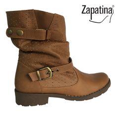 Botas miel / $125.000 / Garantía 60 días / Material cuero /  Domicilio gratis en Medellín / Envíos a todo el país ✈️ / Pedidos al 310 544 1615 / www.zapatina.co #Zapatina #Zapatos #Moda