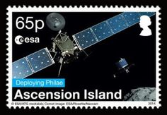 Ascencion Island Stamp - Philae-Rosetta -Briefmarke