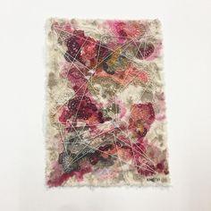 "Serie ""Luz y Sombra"". Acrílico y bordado sobre algodón. 14 x 19 cm sin marco. 2017. Foto @textilesxme Bohemian Rug, Instagram, Home Decor, Light And Shadow, Lights, Embroidery, Artists, Photos, Interior Design"