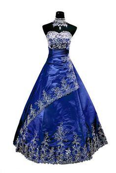 Robe de mariée bleu