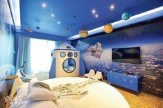 space themed child's bedroom