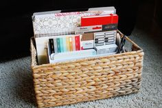 project life -- how I organize my supplies // find joy in the journey
