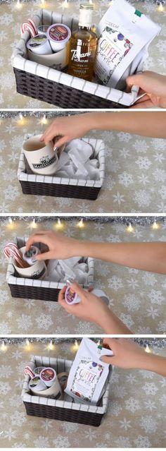 Coffee Lovers Basket | Christmas Gifts for Boyfriend DIY Cute