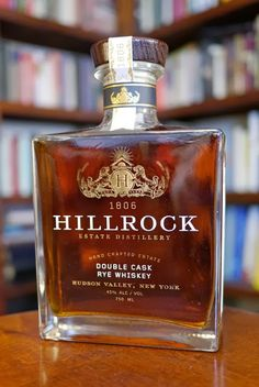 The Hillrock Estate Double Cask Rye Whiskey Cigars And Whiskey, Scotch Whiskey, Bourbon Whiskey, Mixed Drinks, Fun Drinks, Alcoholic Drinks, Cocktails, Alcohol Bottles, Liquor Bottles