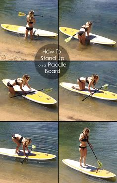 how to get up on a Stand Up Paddle Board in summer time :)