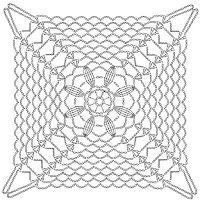 Crochet Patterns: Crochet Lace Tablecloth Pattern - Beautiful Square Motif