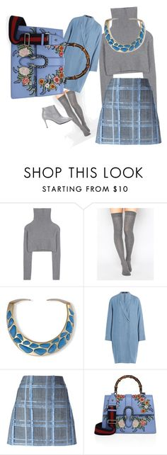 """""""blue spirit"""" by itsmechiara ❤ liked on Polyvore featuring Valentino, ASOS, Kenneth Jay Lane, Steffen Schraut, Versace, Gucci and Balenciaga"""